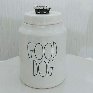 Rae Dunn Good Dog Canister with Crown Top